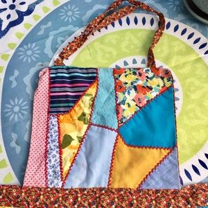 Colourful handmade quilted apron